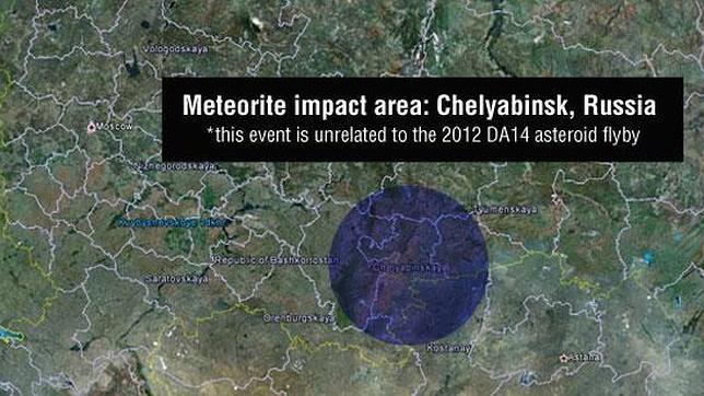El impacto del meteorito caído sobre Rusia es el mayor de un objeto espacial en los últimos cien años
