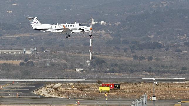 El aeropuerto de Castellón alberga su primer vuelo en pruebas