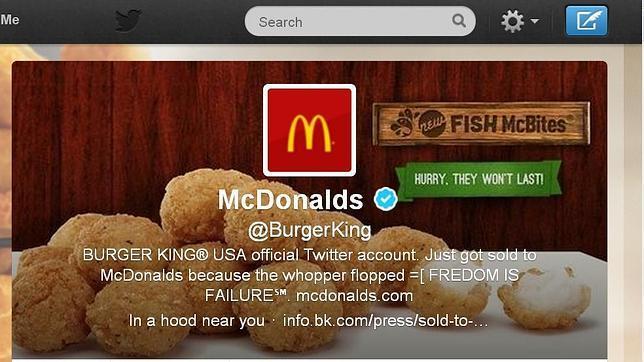 Hackean la cuenta en Twitter de BurgerKing