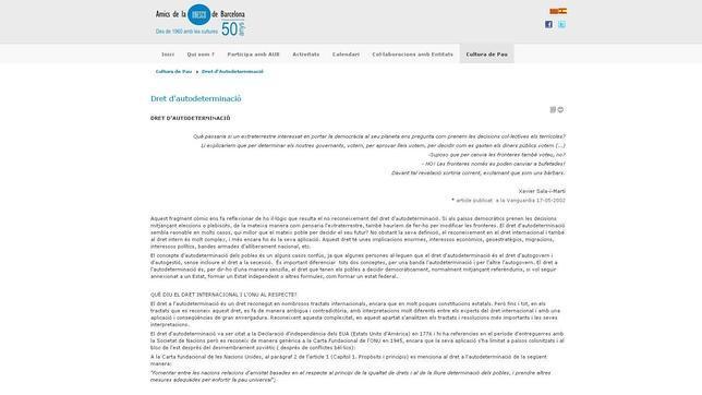 Trece entidades piden a la Unesco y a la ONU medidas contra sus «fascistas» filiales catalanas