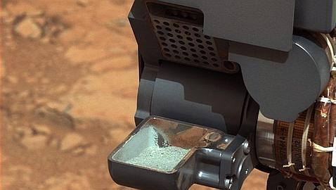El polvo de rocas que la Nasa ha extraído del interior del planeta Rojo