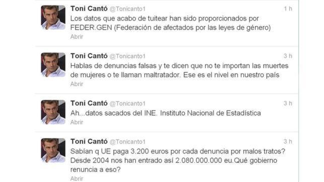 PSOE, IU y PP se revuelven contra Toni Cantó por cuestionar veracidad de las denuncias por violencia de género