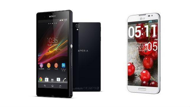 Sony Xperia Z frente al LG Optimus G