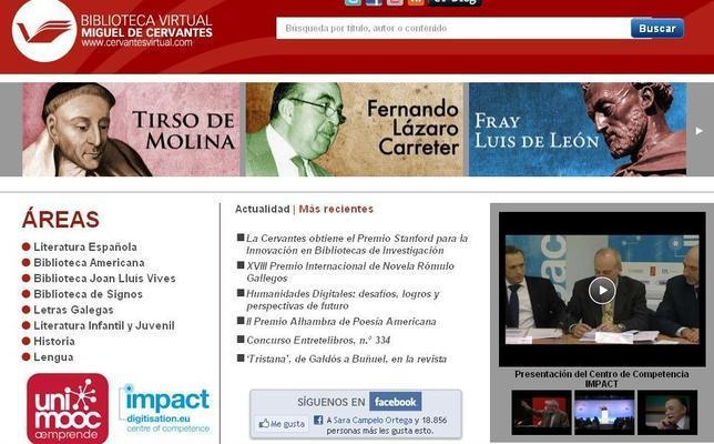 La Biblioteca Digital Cervantes gana el premio Stanford