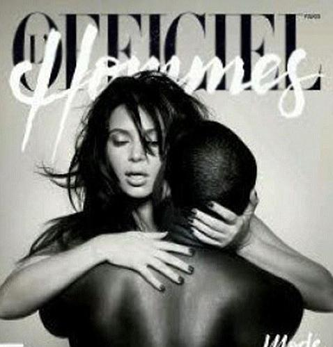 Kim Kardashian y su novio Kanye West protagonizan un desnudo de portada