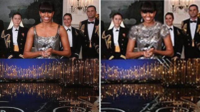 Irán aplica el «photoshop» a Michelle Obama en el anuncio de los Oscar
