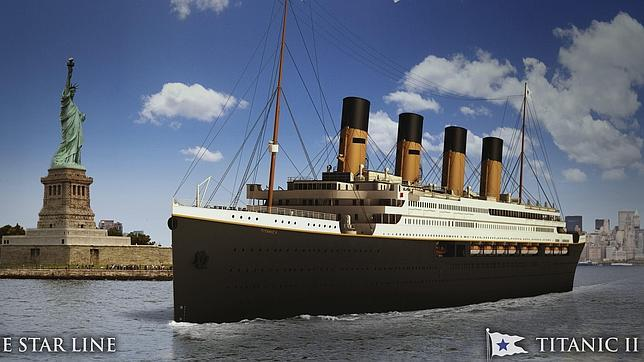 Dibujos del Titanic II, presentados por la compañía Blue Star Line