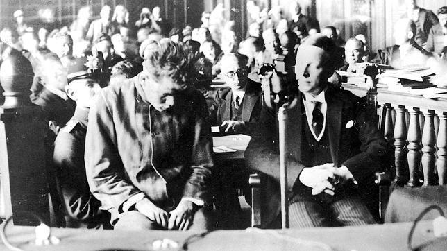 Van der Lubbe, durante el juicio