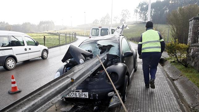 El accidente se ha producido en el Puente San Miguel