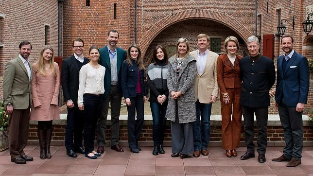 Don Felipe y Doña Letizia se reúnen en Holanda con los otros Príncipes Herederos