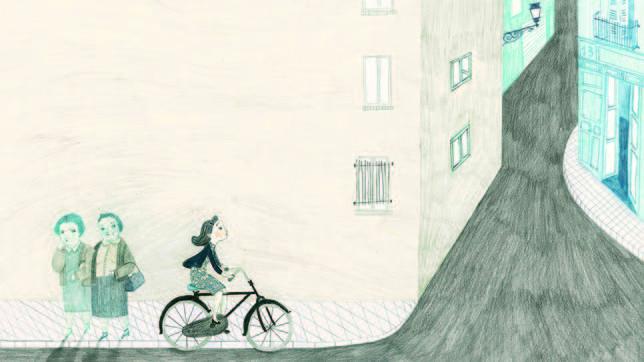 Gloria Fuertes aprendió muy pronto a montar en bicicleta