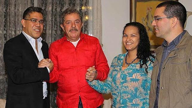 Los hijos de Hucho Chávez (Rosa Virginia y su marido) se codearon con personalidades internacionales