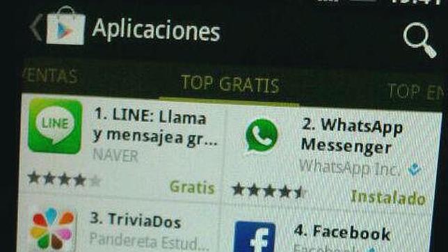 Line se convierte en la «app» gratuita más descargada en PlayStore