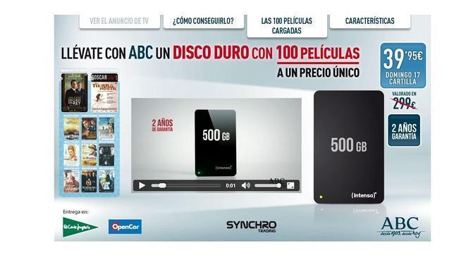 Llevate Con Abc Un Disco Duro Con 100 Peliculas