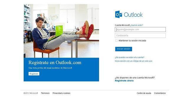 Los correos de Outlook y Hotmail registran problemas de acceso
