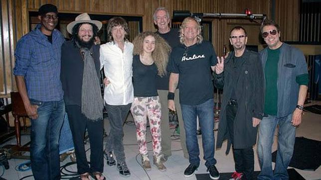 Joe Walsh, de los Eagles, graba con Mick Jagger y Ringo Starr