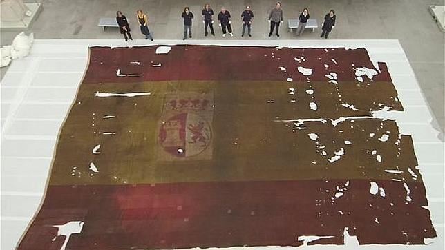 Historias cruzadas: bandera del San Ildefonso, buque apresasado en Trafalgar, que fue mostrada en los funerales del almirante Nelson y que hoy se conserva en el Museo de Greenwich