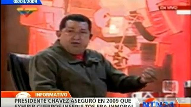 Hugo Chávez opinaba que embalsamar un cuerpo era «un acto macabro»