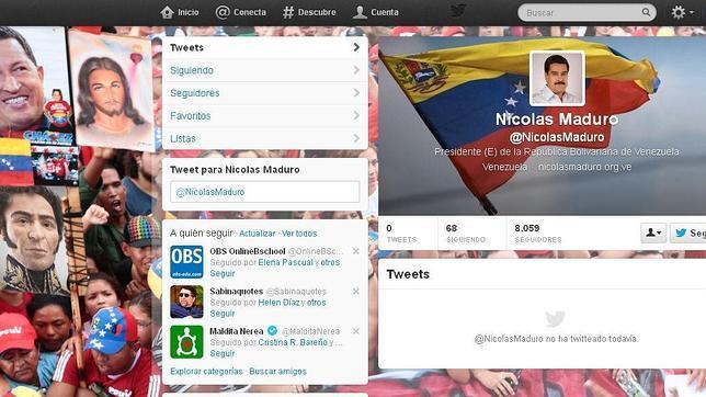 Nicolás Maduro estrena cuenta en Twitter