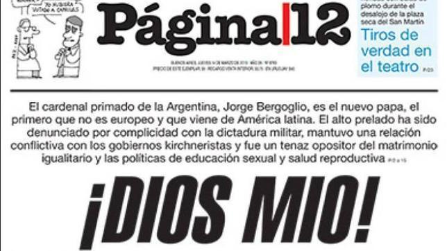La prensa K contra el Papa