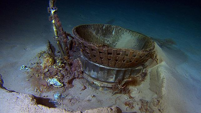 Rescatan los motores del Apolo 11 del fondo del océano Atlántico
