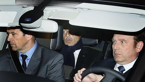 Nicolás Sarkozy, a su salida de los juzgados