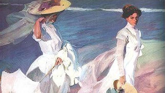 «Paseo a la orilla del mar», de Joaquín Sorolla, una de las obras que acaba de incorporar Google Art Project