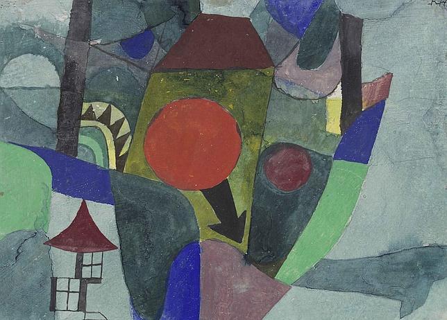 «Con el sol poniente» (1919), de Paul Klee