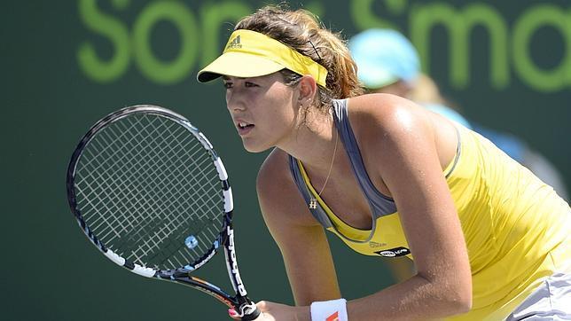 Garbiñe Muguruza sorprende a la danesa Wozniacki