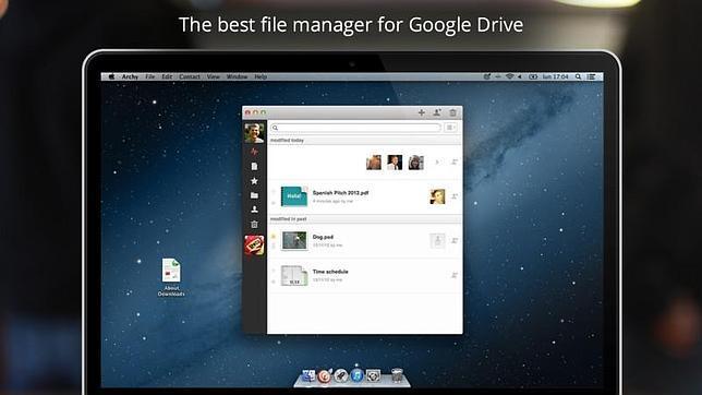 Lanzan Archy, una «app» que revoluciona la experiencia con Google Drive en Mac