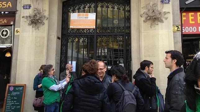 La PAH señala a la diputada del PP Dolors Montserrat con un nuevo escrache