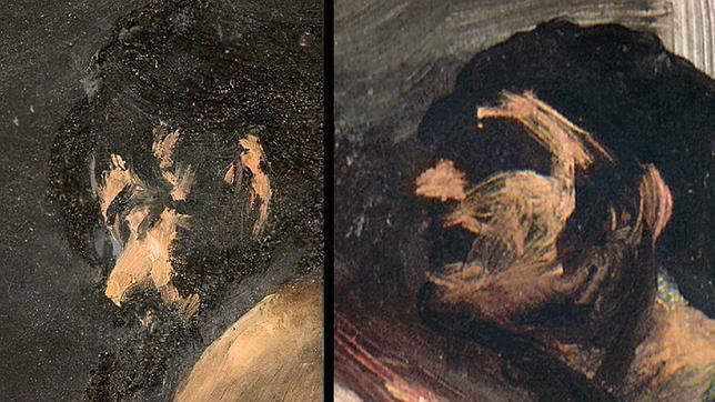 """Rostro de El Coloso junto a una cabeza de """"San Hermenegildo"""""""