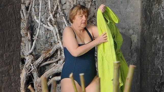Angela Merkel, molesta con las imágenes publicadas de sus vacaciones
