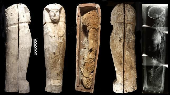 Sarcófago infantil hallado por el Proyecto Djehuti en Luxor