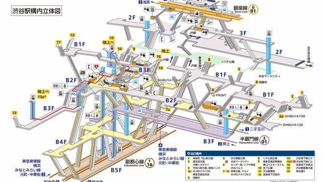 Así son las complejas y fascinantes estaciones de tren de Tokio