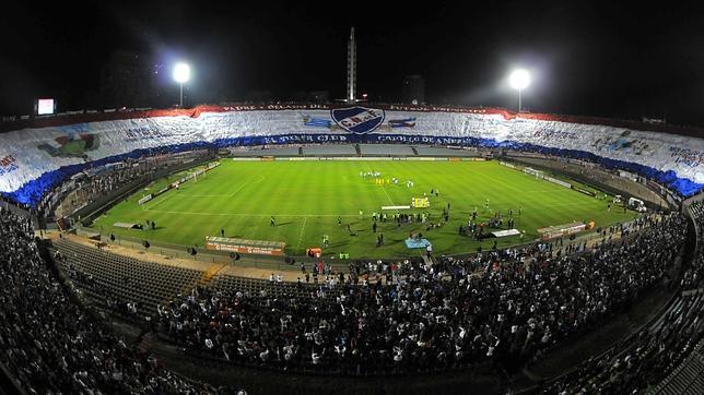 La bandera más grande vista en un estadio de fútbol