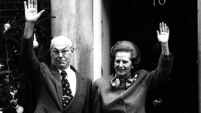 Denis y Margaret Thatcher