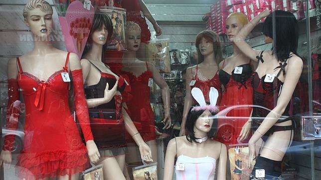 Imagen de archivo de una tienda de productos eróticos