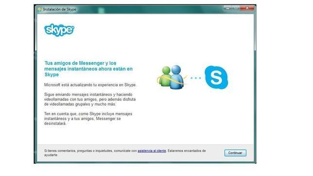Cómo migrar de Messenger a Skype