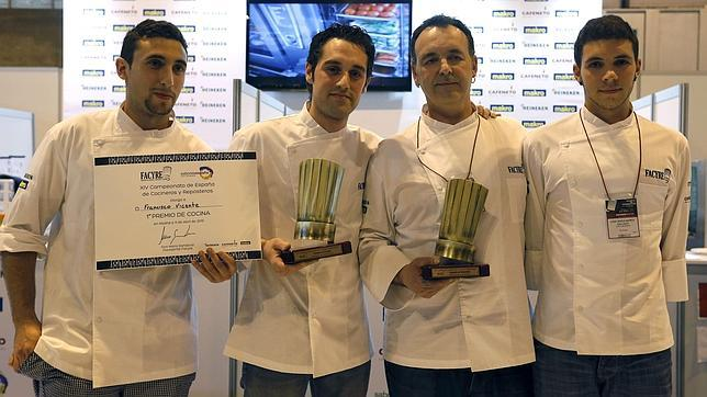 Francisco Vicente y Juan Pablo Retes, mejor cocinero y repostero de España