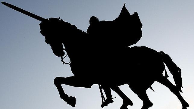 Estatua del Cid «Campeador» en la ciudad de Burgos
