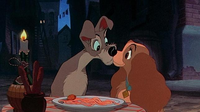 Fotograma de la película de Disney «La dama y el vagabundo»