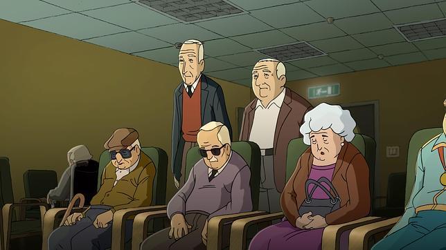 Fotograma de la película «Arrugas»