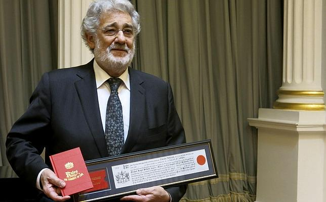 Plácido Domingo recibe las llaves de la City de Londres