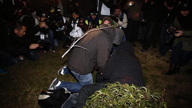 La Policía investiga a radicales que se infiltran en protestas como fotógrafos
