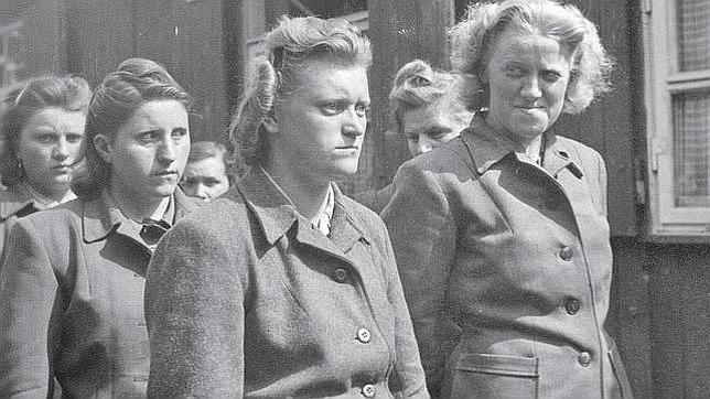 Varias guardianas nazis de un campo de concentración