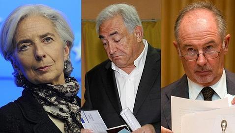 Christine Lagarde, Strauss Kahn y Rodrigo Rato