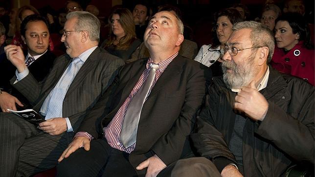 Cándido Méndez, Manuel Pastrana y Antonio Fernández