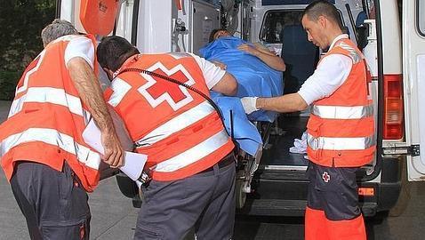 """""""El Juli"""" a su llegada al hospital sevillano, tras el percance"""