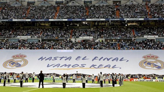 La afición del Real Madrid cree en la remontada ante el Dortmund ...